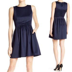 VInce Camuto Navy Blue Fit Flare Scuba Dress 4